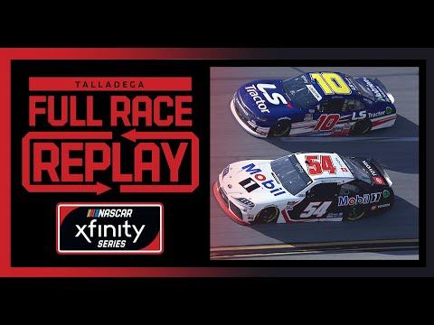 NASCAR タラデガ・スーパースピードウェイ Xfinityクラスのレースフル動画