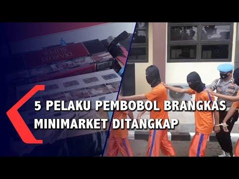 5 Pelaku Pembobol Brangkas Minimarket Ditangkap