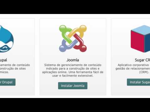 Aplicativos Wordpress, Drupal, ZenPhoto, MediaWiki, Joomla, phpBB e Sugar CRM.