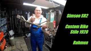 Simson SR2 || Custom Bike || Part 18 || Rahmen