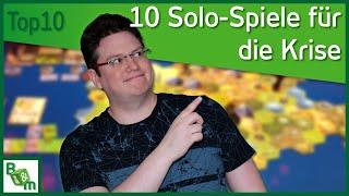 Top 10 Solo Spiele | Alleine Brettspielen während der Krisen-Zeit :-)
