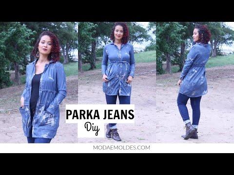 DIY PARKA/PARCA JEANS PARA INVERNO