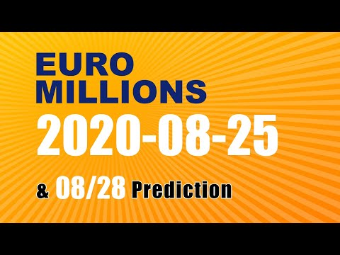Winning numbers prediction for 2020-08-28|Euro Millions