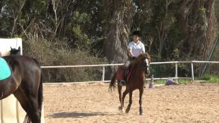 preview picture of video 'Internal jumping training at 'Toxana' Ranch, Tuesday 22.January 2013'