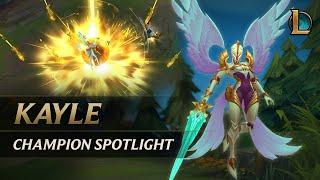 Kayle Champion Spotlight   Gameplay - League of Legends