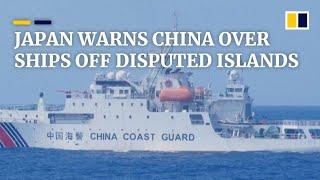 Diaoyu-Senkaku islands spat deepens as Japan warns China over coastguard ships in East China Sea