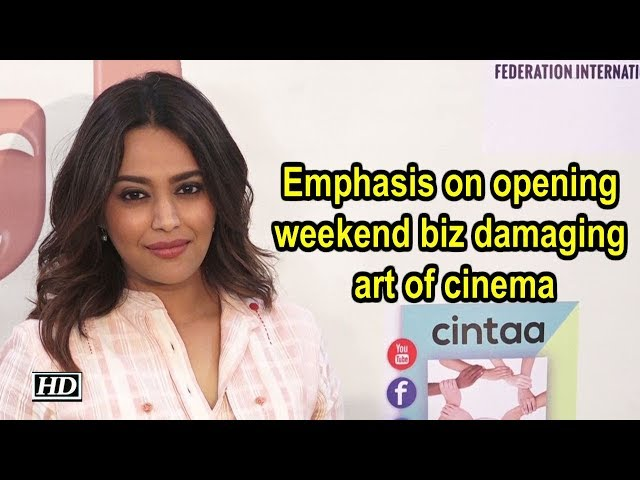 Emphasis on opening weekend biz damaging art of cinema: Swara Bhasker