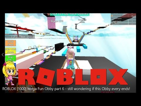 Roblox Mega Fun Obby Roblox Gameplay Mega Fun Obby Part 17 Stage 1000 To 1090 Have Not Played This For So Long Steemit