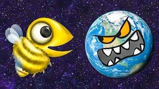 Несносная ПЧЕЛА съела планету. ИГРА Tasty Planet Forever #4 на Игрули TV
