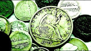 Actual American Treasure FOUND Metal Detecting an Old House! Seated Silver Coins Galore! Epic Hunt