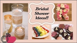 Bridal Shower Ideas - PART 3 | Easy DIY Decor, Dessert And More!!