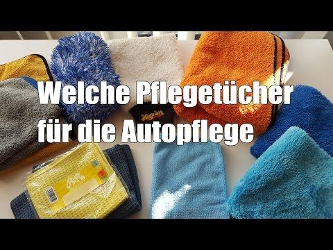 Welche Pflegetücher für die Autopflege Auto Poliertuch Waschhandschuh Waffeltuch Mikrofasertuch
