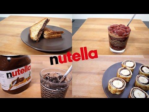 5 recette avec du nutella blog de swag 34000. Black Bedroom Furniture Sets. Home Design Ideas