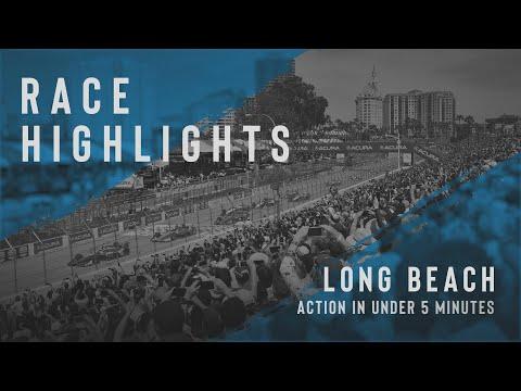 インディーカー第16戦 ロングビーチ 決勝レースのハイライト動画
