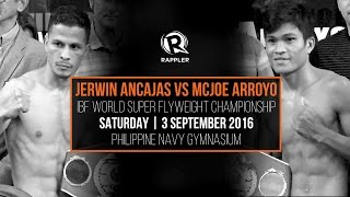 FULL VIDEO: Jerwin Ancajas vs McJoe Arroyo at the IBF World Super Flyweight Championship