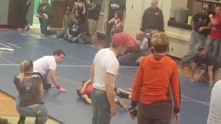 Wrestling match 2 Win #1 Rhenton Wright