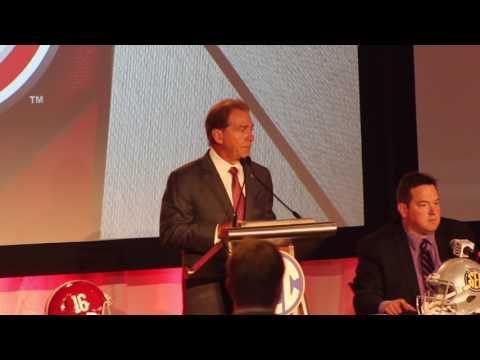 Alabama head coach Nick Saban at SEC Media Days 2017 - FULL Press Conference