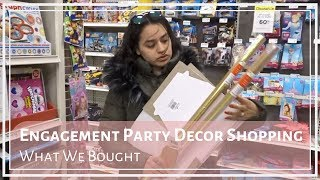 Engagement Party Decor Shopping | What We Bought