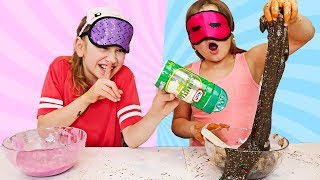 CILLA CHEATED AGAIN! Blindfolded Slime Challenge!   JKrew