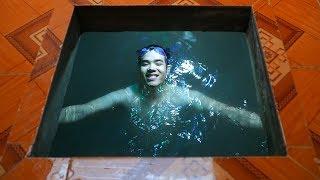 NTN - Đào Bể Bơi Dưới Nền Nhà Để Tắm (Digging floor to make a pool)