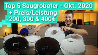 SAUGROBOTER TEST 2020 - Die TOP 5 im VERGLEICH & BESTEN STAUBSAUGER ROBOTER bis 200€, 300€ & 400€!