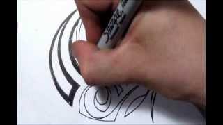 Drawing A Simple Tribal Maori Design - Quick Sketch