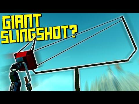 This Giant Slingshot Won't Listen... Can YOU Do Better? [Slingshot Challenge] - Scrap Mechanic