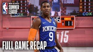 KNICKS vs WIZARDS | RJ Barrett Nears Triple Double As Knicks Win | MGM Resorts NBA Summer League