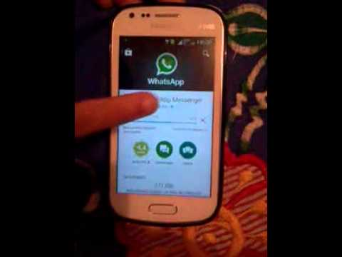 Instalando O Whatsapp No Galaxy Samsung Trend Lite Mp3