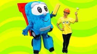 Видео для детей #ВеселаяШкола Капуки Кануки 🐶Катя и #СуперЛева помогают щенку🏠БУДКА для СОБАКИ