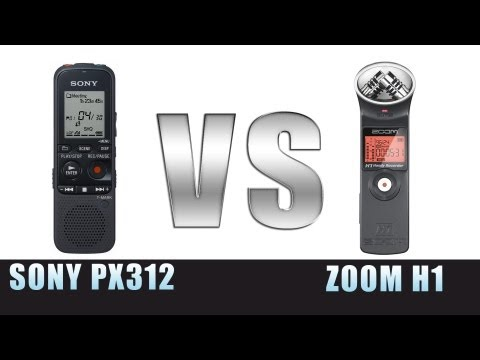 Zoom H1 vs Sony ICD-PX312 Audio Test | Canon DSLR