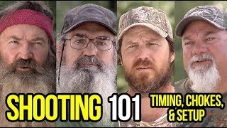 Duck Hunting Tips: Shooting 101 with Phil, Jase, Si and Godwin