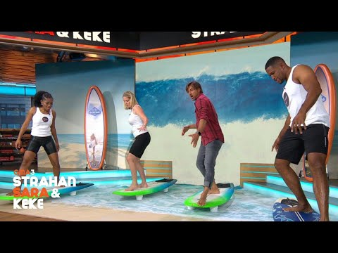 Stoked: Michael, Sara and Keke Try Surfing