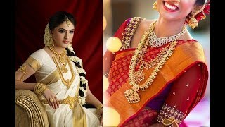 Latest Layered  South Indian Necklace Set Designs Ideas||South Indian Bridal Jewelry Designs