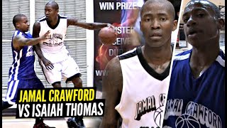 Jamal Crawford vs Isaiah Thomas CRAZY MATCH UP!! NASTY HANDLES & Go OFF For 75 Points Combined!!