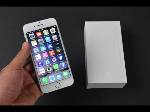 Apple iPhone 6 White Silver 64gb Unboxing