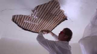 Teaching Internal rendering,  plaster ceiling repairs