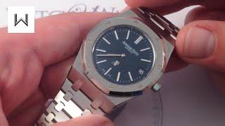"""Audemars Piguet Royal Oak 15202ST """"Jumbo"""" Luxury Watch Review"""