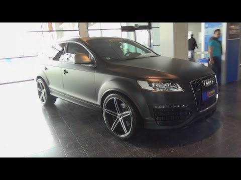 Audi Q7 matt black OXIGIN Wheels spotted @ Tuning World Bodensee 2014