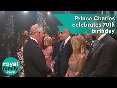 Prince Charles celebrates 70th birthday at star-studded comedy show (видео)