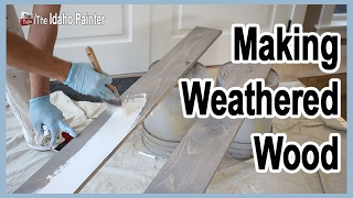 How To Make Weathered Wood Fast.  Distressed Wood In 2 Steps.