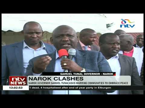 Narok governor Samuel Tunai asks warring communities to embrace peace