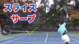 【松井俊英プロ】相手を追い込むスライスサーブ【テニスレッスン】
