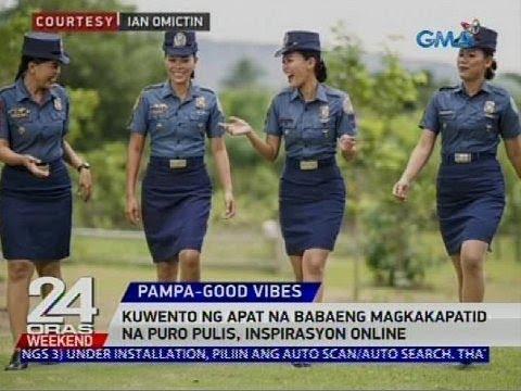[GMA]  Kuwento ng apat na babaeng magkakapatid na puro pulis, inspirasyon online