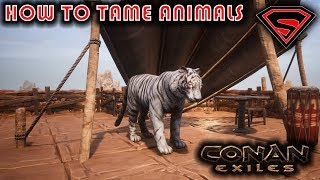 CONAN EXILES HOW TO TAME ANIMALS - HOW TO TAME PETS