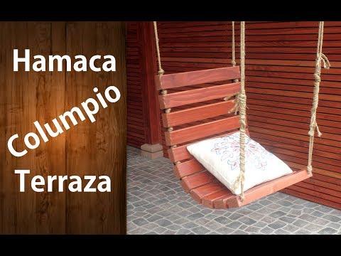 ¿Cómo hacer una hamaca o columpio de madera para la terraza? Fácil | #RecicladoChallenge