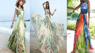 Summer Beach  Long Maxi Dress  Designs Outfit Ideas ||समुद्र तट में पहेनेने के लिए सुन्दर गाउन