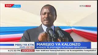 NASA Co-principal Kalonzo Musyoka gives thanks to Kenyans for voting him and Raila Odinga