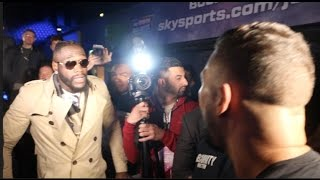 BEEF!!! - TONY BELLEW & DEONTAY WILDER CONFRONT EACH OTHER & TRADE HEATED WORDS **FULL VIDEO**