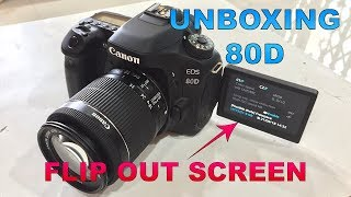Canon EOS 80D (EF-S 18-55 IS STM lens) Unboxing and first Hands on!